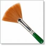 7917 - Paint Supplies : AW Waaier Penseel Nr. 6