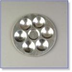 7416 - Paint Supplies : Aluminium Verf Palette 13 cm
