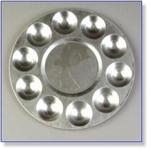 7417 - Paint Supplies : Aluminium Verf Palette 19 cm