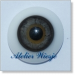 6230 - Eyes :  Masieve halfronde glas-ogen Antik-Grau - Not available