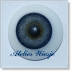 6250 - Eyes :  Masieve halfronde glas-ogen Blau-Grau - Not available