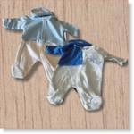 7630 - Clothing : Baby's Blauw + muts