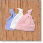 7661 - Clothing : Babymutsje met enkele knoop